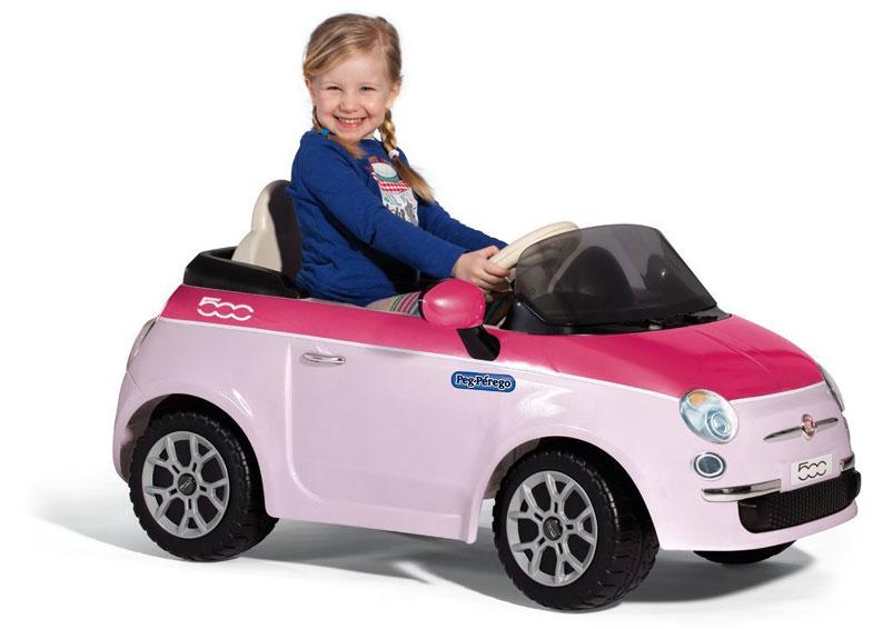 Auto elettriche per bambini fiat 500 rosa