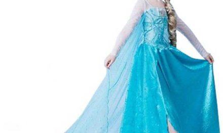 Costume da principessa frozen leggero e comodo