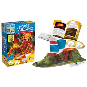Giochi in scatola per bambini scopri il vulcano