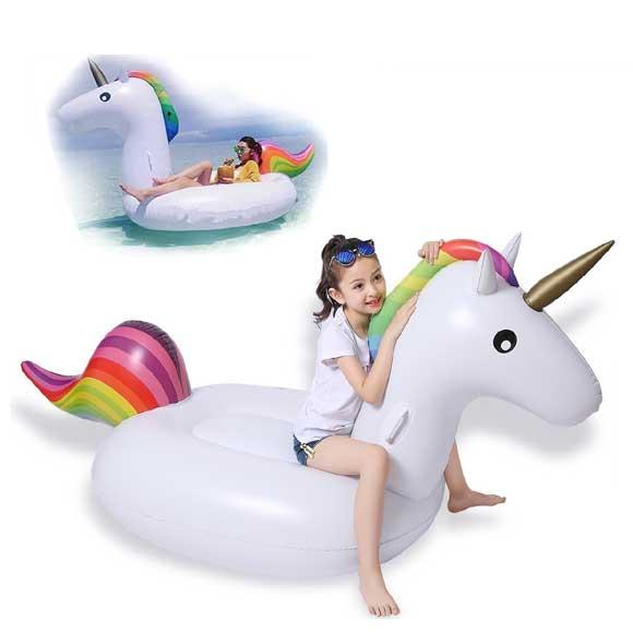 Canotti per bambini da mare e piscina giocattoli per bambini - Unicorno gonfiabile piscina ...