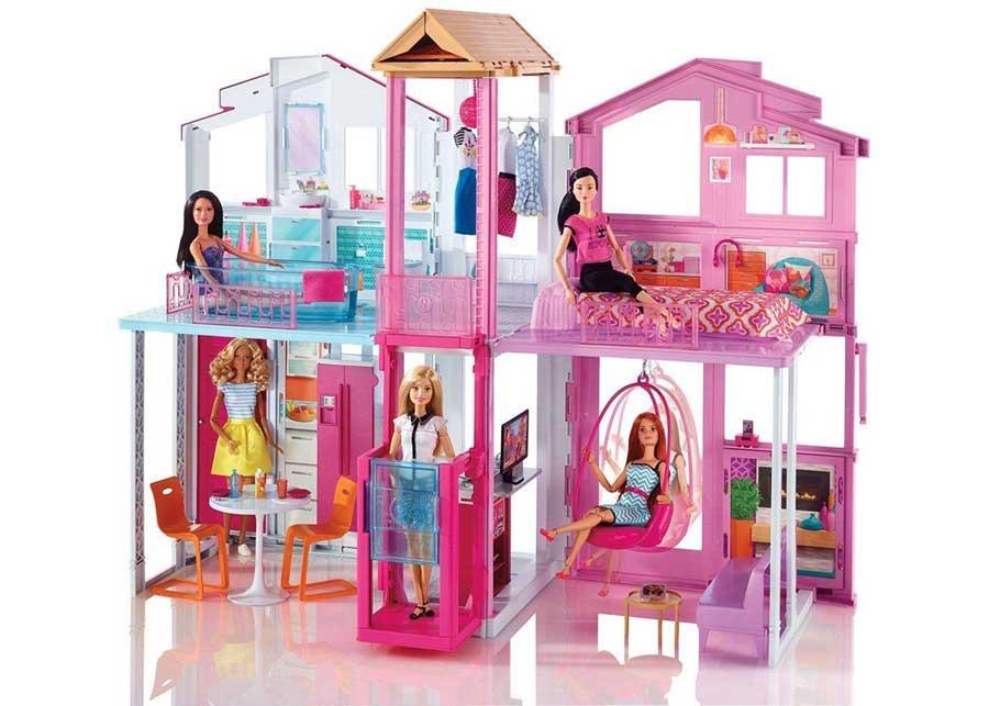 Barbie casa malibu dai colori brillanti giocattoli per for Casa malibu barbie