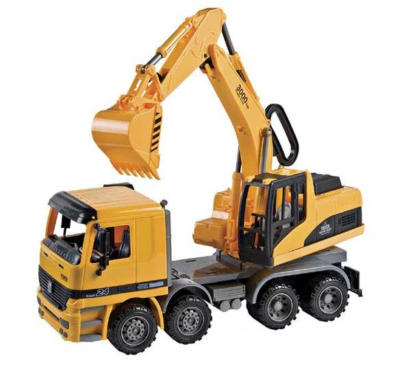 escavatore giocattolo per bambini