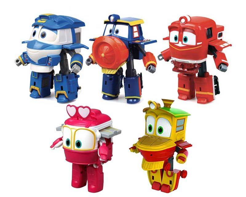 Robot trains giocattoli trasformabili